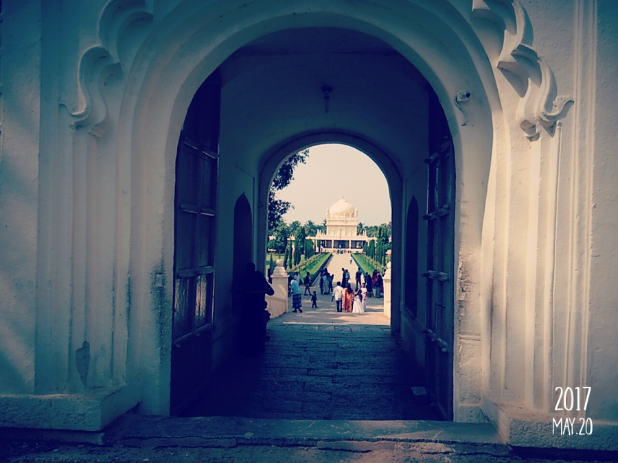 Gumbaz, from the main gate