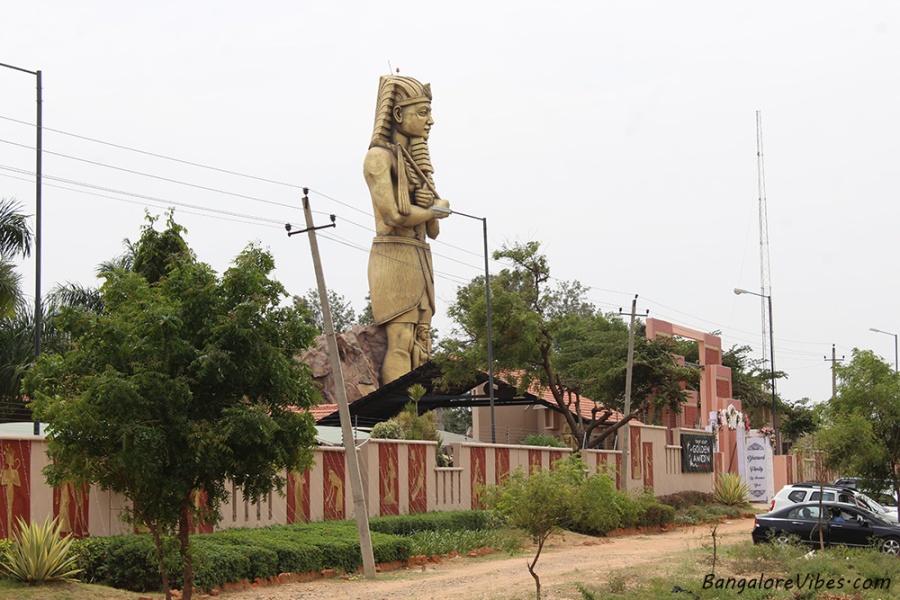 Golden Amoon Statue