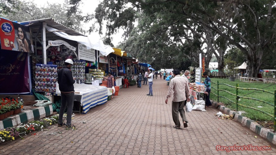 Stalls in Lalbagh Flower Show