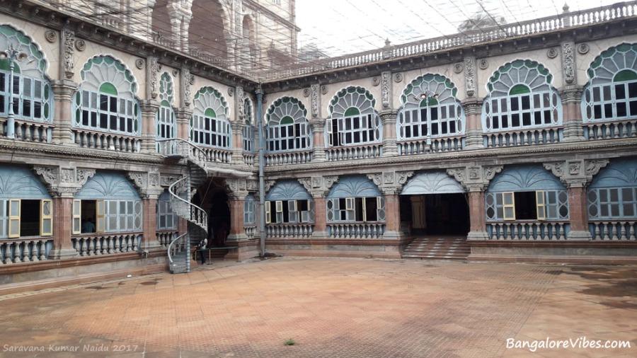 Open space inside Mysore Palace